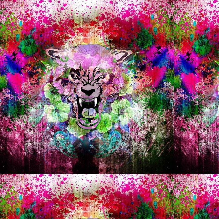 Tapeta Pixerstick Světlé abstraktní pozadí - Zlost