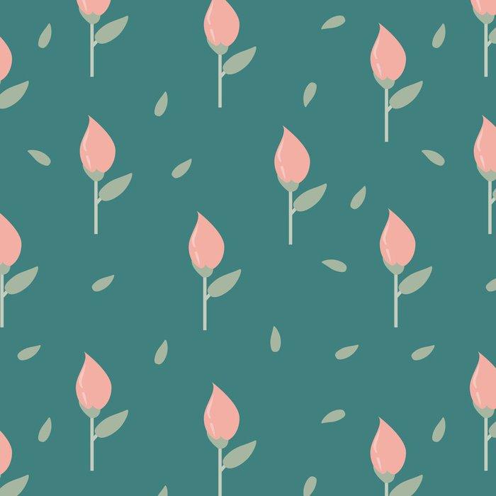 Tapeta Pixerstick Světlém pozadí tulipány - Struktury