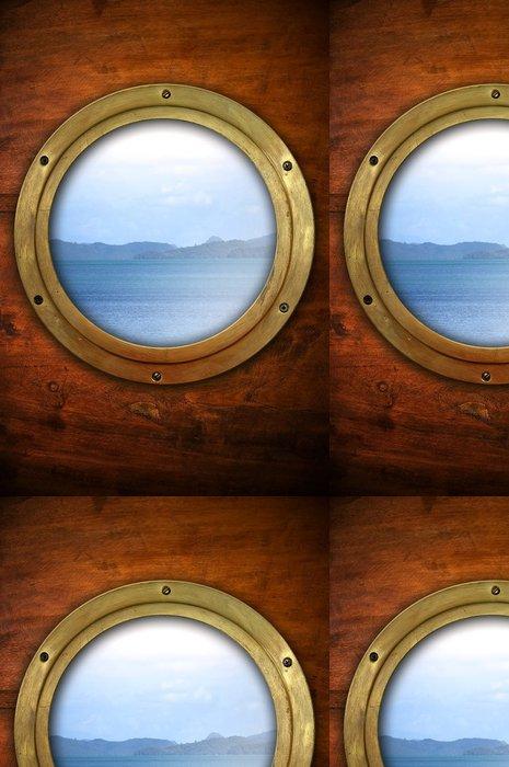 Tapeta Pixerstick Světlík s výhledem na oceán - Lodě