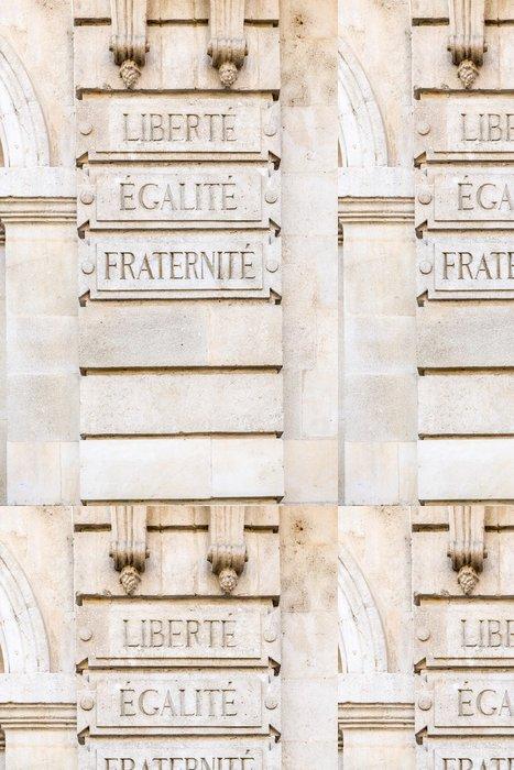 Tapeta Pixerstick Svoboda, rovnost, bratrství - Spravedlnost