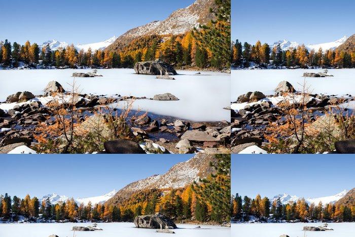 Tapeta Pixerstick Švýcarské Alpy - podzimní krajina - Roční období