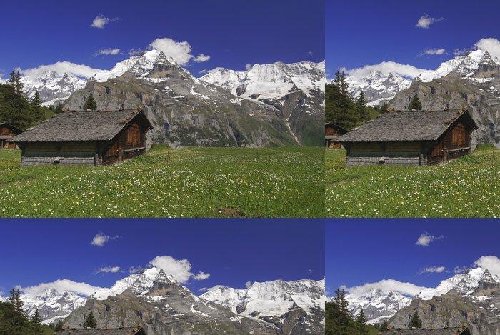 Tapeta Pixerstick Švýcarské Alpy - Evropa