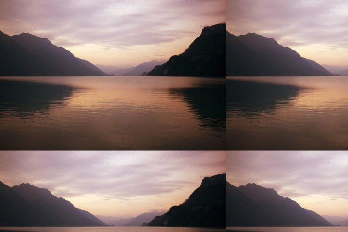 Tapeta Pixerstick Swiss jezero západu slunce - Voda