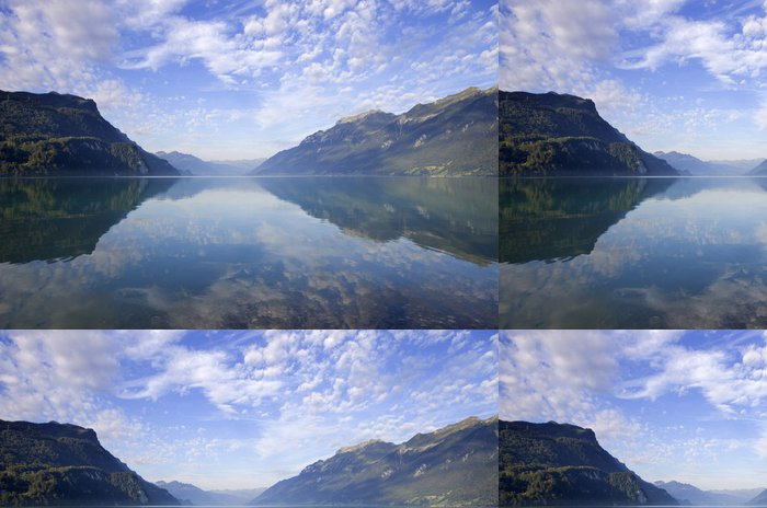 Tapeta Pixerstick Swiss jezero - Voda