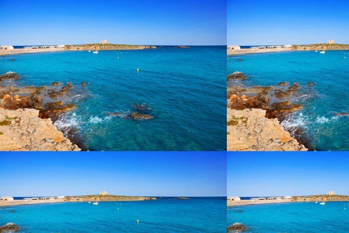 Tapeta Pixerstick Tabarca Alicante středozemí ostrova modré moře - Evropa