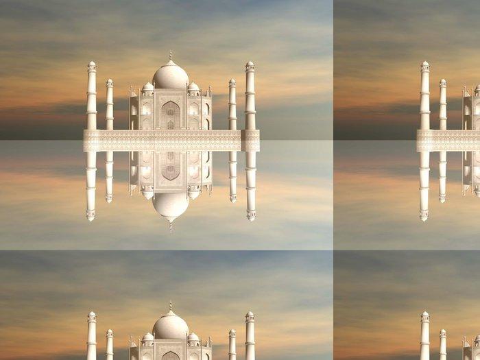 Tapeta Pixerstick Taj Mahal mausoleum, Agra, Indie - 3D vykreslování - Asie