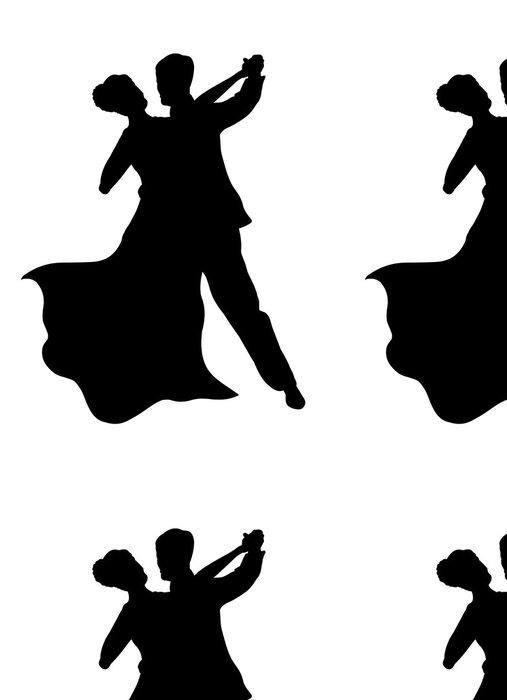 Tapeta Pixerstick Tančící pár - Páry