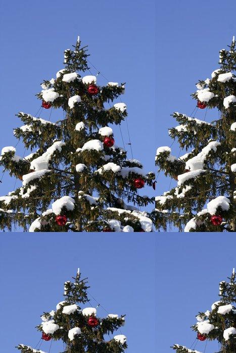 Tapeta Pixerstick Tannenbaum mit roten Kugeln - Vánoční strom s červenými kuličkami - Mezinárodní svátky