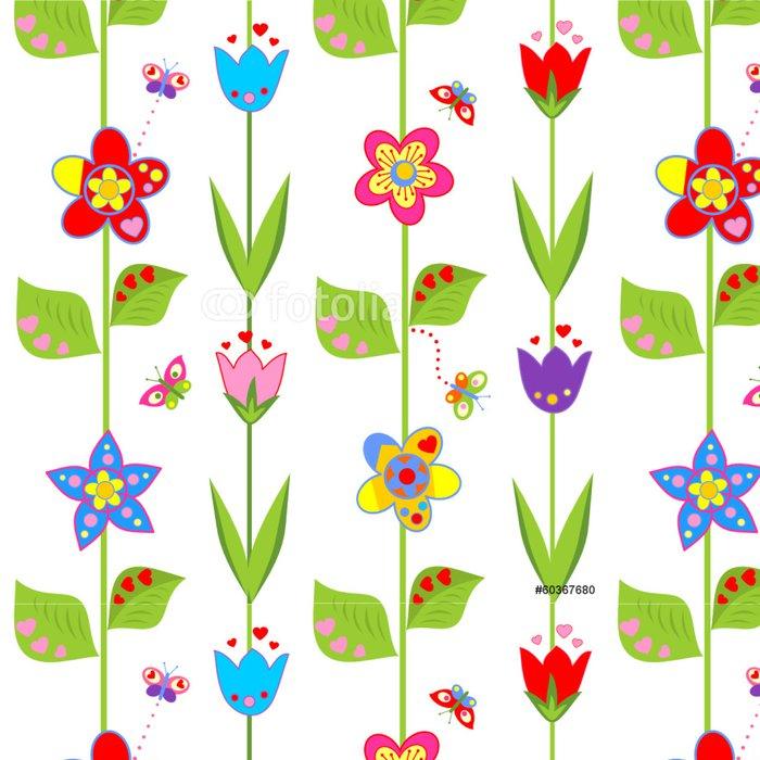 Tapeta Pixerstick Tapeta s legrační jarních květin - Národní svátky