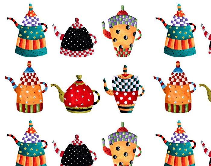 Vinylová Tapeta Tea time pozvání - Nálepka na stěny