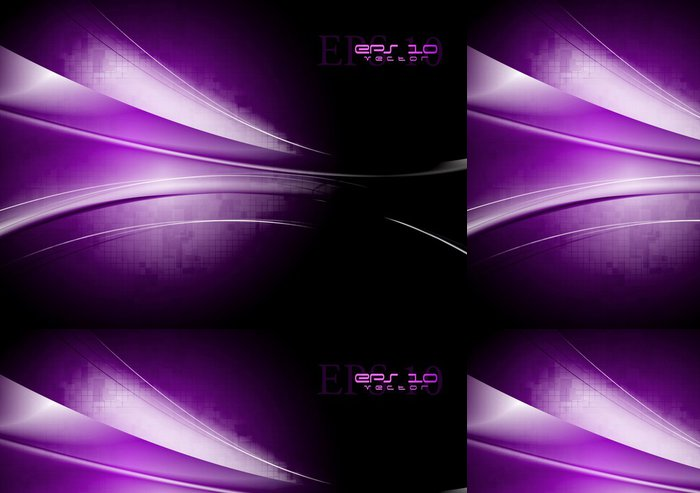 Vinylová Tapeta Tech vlny vektor pozadí - Abstraktní