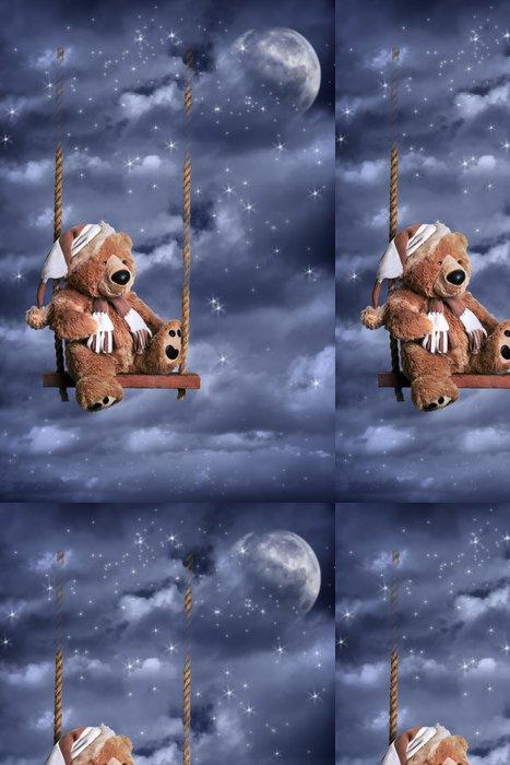 Tapeta Pixerstick Teddy Bear Na noční obloze - Jiné pocity