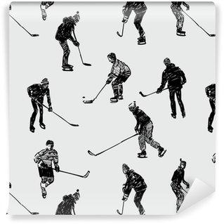 Tapeta Pixerstick Teenageři hraní hokeje