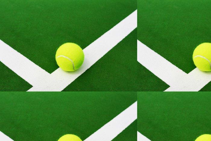 Tapeta Pixerstick Tenisový míč na bílé čáry - Tenis
