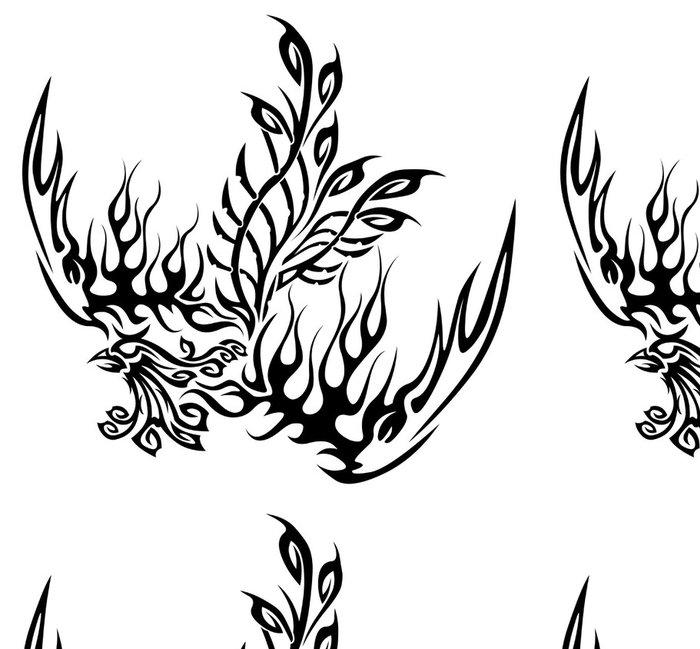 Tapeta Pixerstick Tetování se fénix - Imaginární zvířata