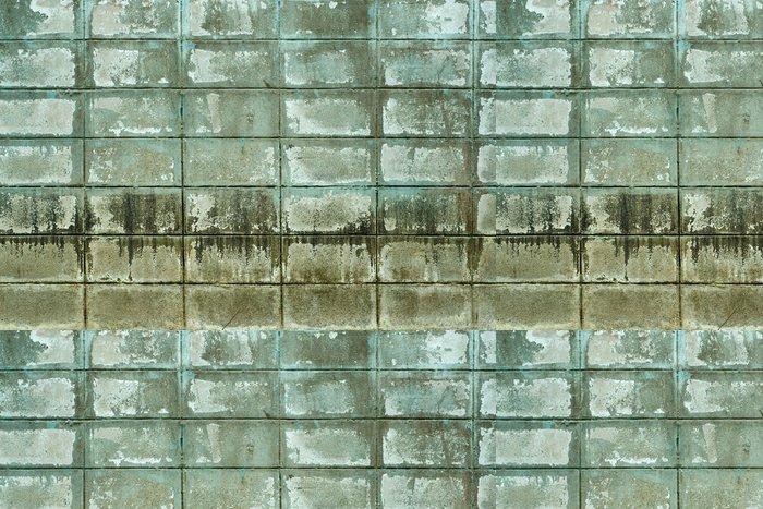 Tapeta Pixerstick Textuer staré zelené grunge zdi bloku - Památky