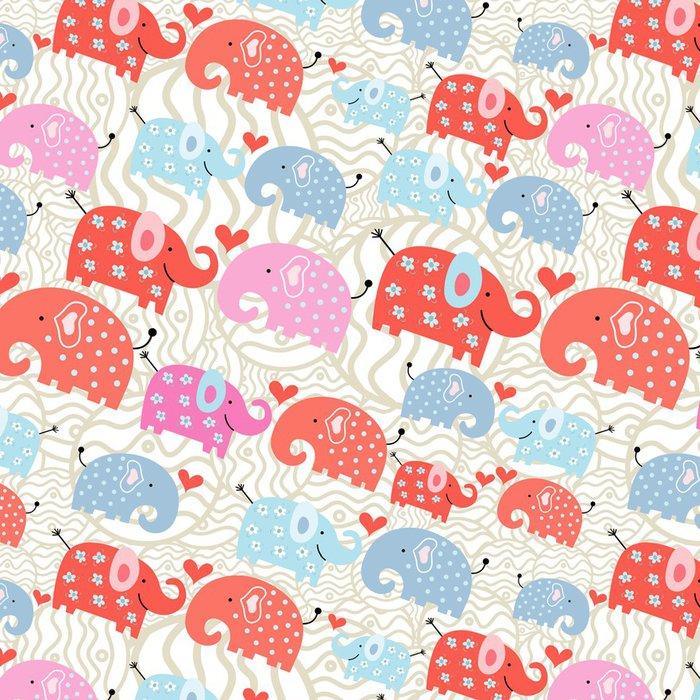 Tapeta Pixerstick Textura slonů v hrášku - Mezinárodní svátky