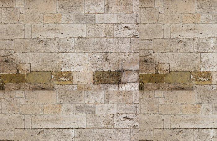 Tapeta Pixerstick Textura staré kamenné zdi - Struktury