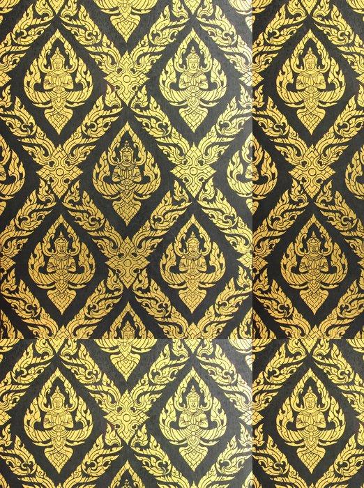 Vinylová Tapeta Thajské umění vzor zdi na pozadí -