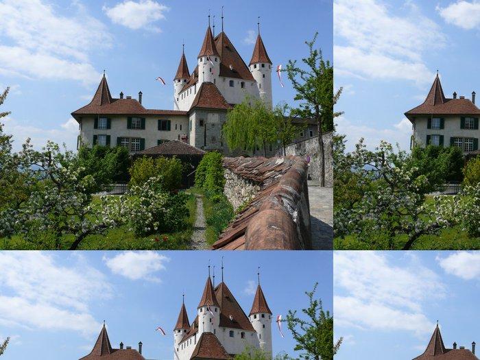 Tapeta Pixerstick Thun Castle - Evropa