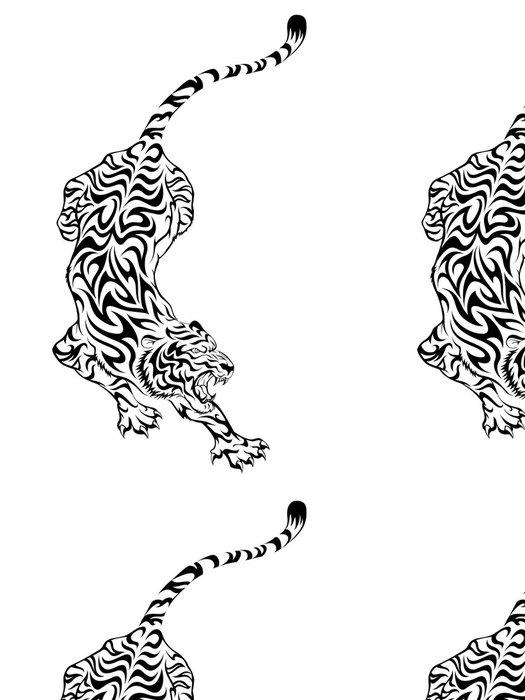 Tapeta Pixerstick Tiger Tattoo 3 - Savci