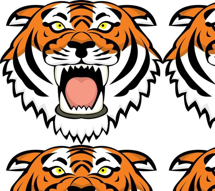 Tapeta Pixerstick Tiger tetování - Savci