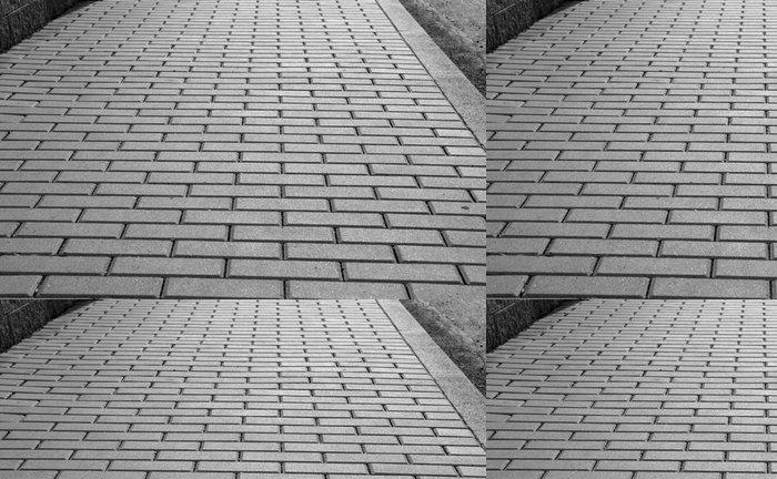 Tapeta Pixerstick To je chodník pro chodce z betonových cihel - Pozadí