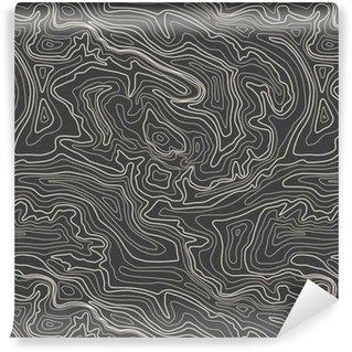 Vinylová Tapeta Topografická mapa, vektorové ilustrace, bezešvé vzor