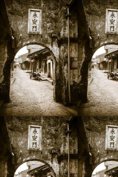 Tapeta Pixerstick Tradiční čínská vesnice pohled z ulice - Témata