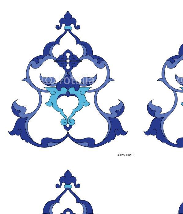 Tapeta Pixerstick Tradiční starožitné osmanské turecké dlaždice ilustrace design - Pozadí