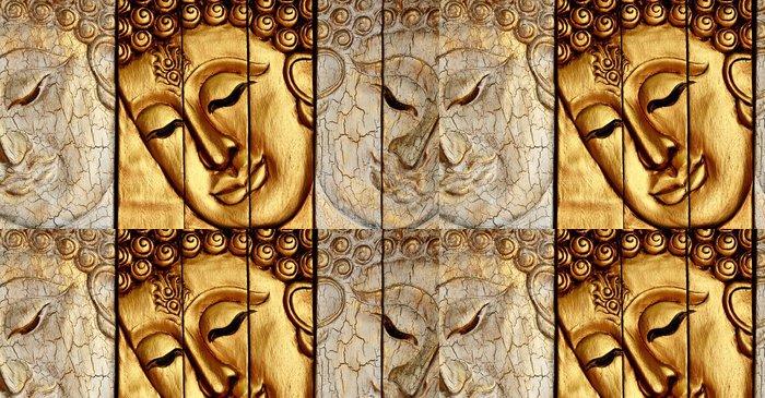 Vinylová Tapeta Tradiční thajské stylu Buddhy tvář řezbářství - Témata