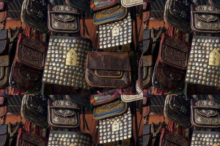 Tapeta Pixerstick Traditionelle Handtaschen in der Medina von Marrakesch - Afrika