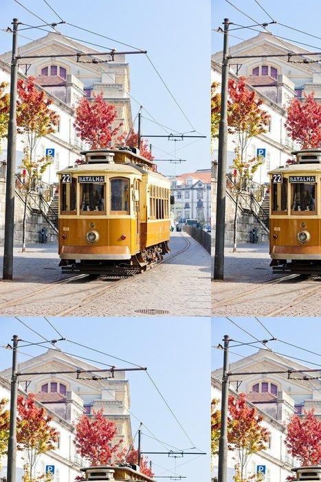 Vinylová Tapeta Tramvaj, Porto, Portugalsko - Evropa
