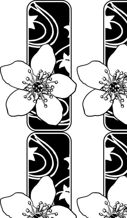 Tapeta Pixerstick Třešňový květ, sakura, vektor - Květiny