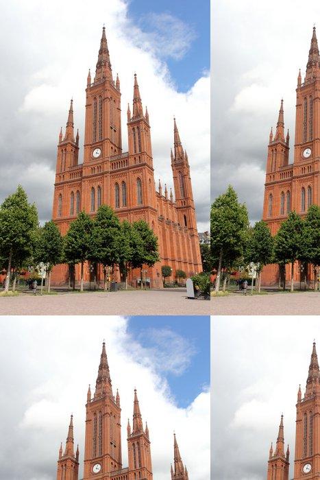 Vinylová Tapeta Trh Kostel ve Wiesbadenu - Evropa