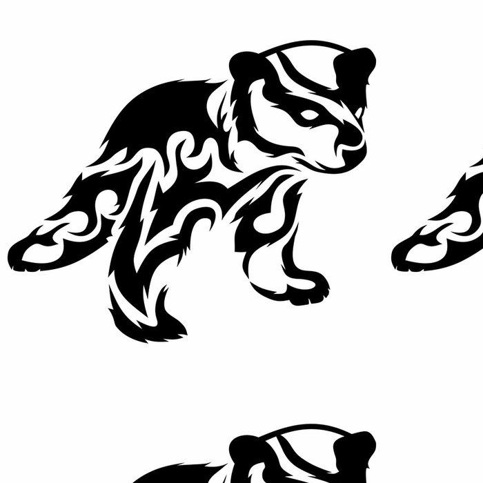 Tapeta Pixerstick Tribal medvídě / vector tetování - Savci