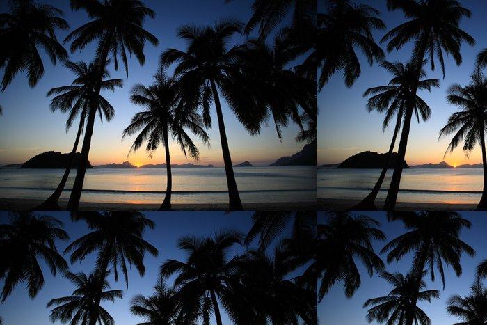 Tapeta Pixerstick Tropic západ slunce - Prázdniny