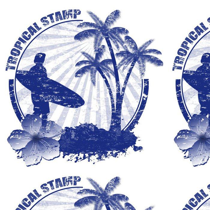Tapeta Pixerstick Tropical razítko - Značky a symboly