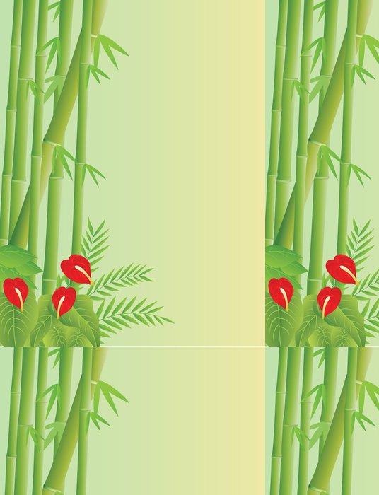 Tapeta Pixerstick Tropická bambusové pozadí - Stromy