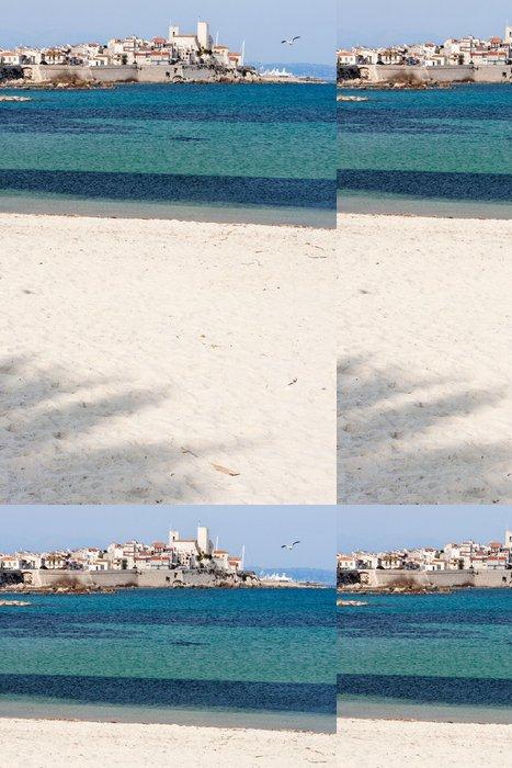 Tapeta Pixerstick Tropická pláž s palmami stínu - Evropa