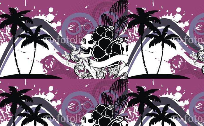 Tapeta Pixerstick Tropické hawaii lebka background10 - Témata
