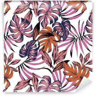 Vinylová Tapeta Tropické listy abstraktní barva bezešvé