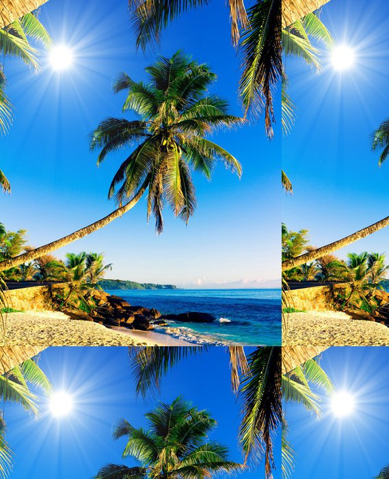 Tapeta Pixerstick Tropické moře Idylické Wallpaper - Voda