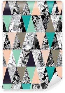 Tapeta Pixerstick Tropické patchwork bezproblémové pozadí