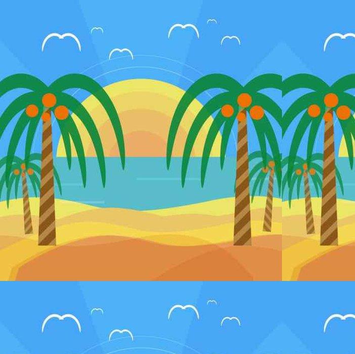 Tapeta Pixerstick Tropické pláže s palmami - Palmy