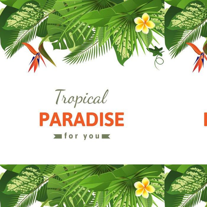 Tapeta Pixerstick Tropické pozadí - Rostliny