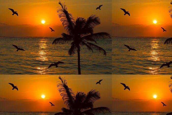 Tapeta Pixerstick Tropické slunce scény - Prázdniny
