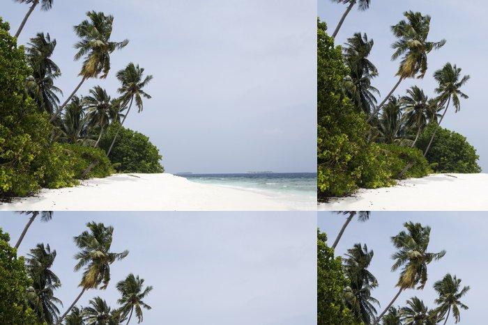 Tapeta Pixerstick Tropický ostrov palm moře a nebe - Asie