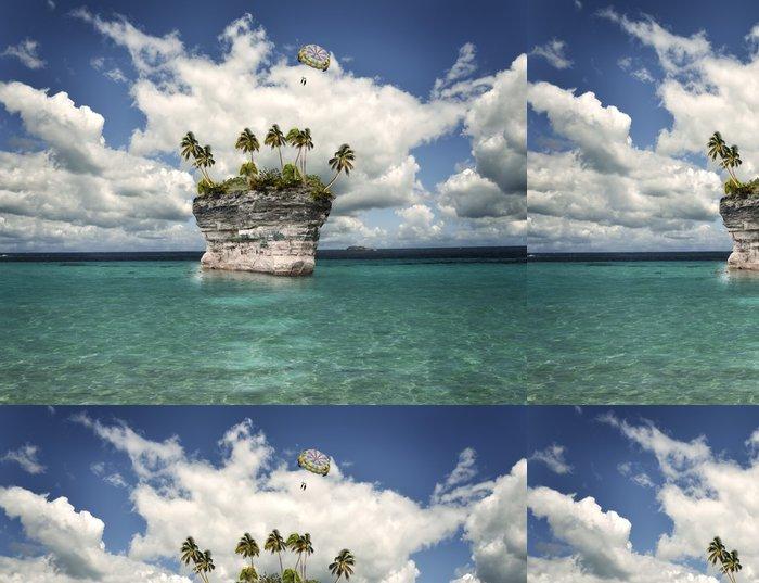 Tapeta Pixerstick Tropický ostrov - Voda