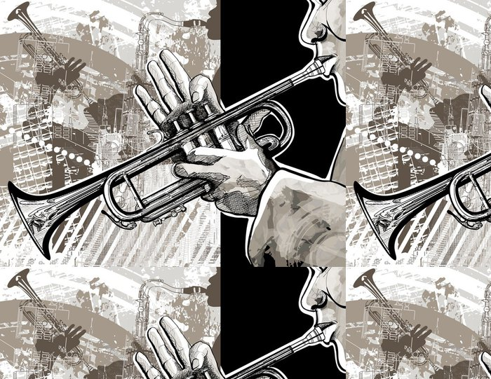 Tapeta Pixerstick Trumpetista - Jazz